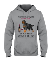 Wine and Gordon Setter 2 Hooded Sweatshirt thumbnail