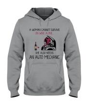 Wine and An Auto Mechanic 2 Hooded Sweatshirt thumbnail