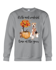 The Most Wonderful Time - Wire Fox Terrier Crewneck Sweatshirt thumbnail