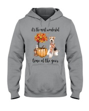 The Most Wonderful Time - Wire Fox Terrier Hooded Sweatshirt thumbnail