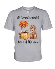 The Most Wonderful Time - Cockapoo V-Neck T-Shirt tile