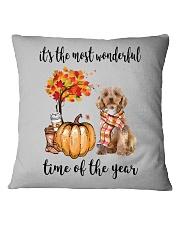 The Most Wonderful Time - Cockapoo Square Pillowcase thumbnail