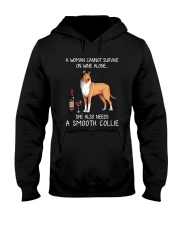 Wine and Smooth Collie Hooded Sweatshirt thumbnail