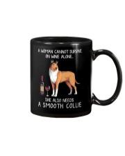 Wine and Smooth Collie Mug thumbnail
