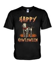 Happy Howloween - Labradoodle V-Neck T-Shirt thumbnail