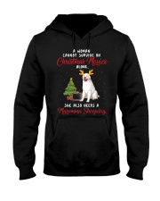 Christmas Movies and Maremma Sheepdog Hooded Sweatshirt front