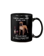 Wine and Bullmastiff Mug thumbnail
