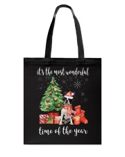 The Most Wonderful Xmas - Boston Terrier Tote Bag tile