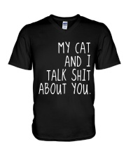 My Cat and I V-Neck T-Shirt thumbnail