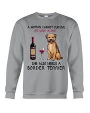Wine and Border Terrier 2 Crewneck Sweatshirt thumbnail
