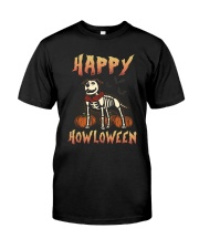 Happy Howloween - Staffordshire Bull Terrier Classic T-Shirt front