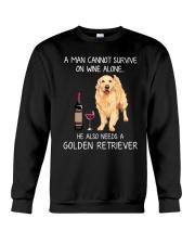 Wine and Golden Retriever - Man version Crewneck Sweatshirt thumbnail