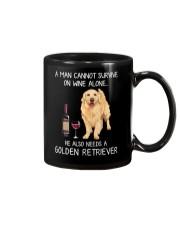 Wine and Golden Retriever - Man version Mug thumbnail