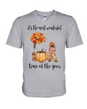 The Most Wonderful Time - Labradoodle V-Neck T-Shirt thumbnail