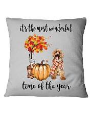 The Most Wonderful Time - Labradoodle Square Pillowcase thumbnail