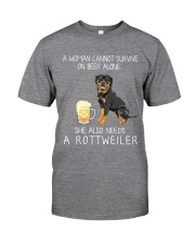 Beer and Rottweiler Classic T-Shirt front