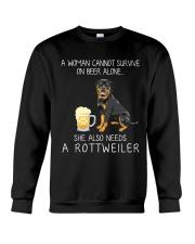 Beer and Rottweiler Crewneck Sweatshirt thumbnail