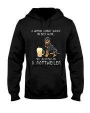 Beer and Rottweiler Hooded Sweatshirt thumbnail