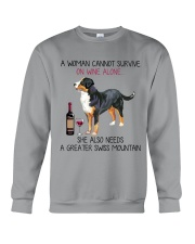 Wine and Greater Swiss Mountain 2 Crewneck Sweatshirt thumbnail