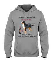Wine and Greater Swiss Mountain 2 Hooded Sweatshirt thumbnail