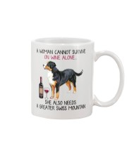 Wine and Greater Swiss Mountain 2 Mug tile