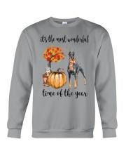 The Most Wonderful Time - Doberman Pinscher Crewneck Sweatshirt thumbnail