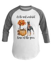 The Most Wonderful Time - Doberman Pinscher Baseball Tee thumbnail
