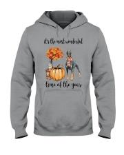 The Most Wonderful Time - Doberman Pinscher Hooded Sweatshirt thumbnail