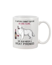 Wine and Great Pyrenees 2 Mug thumbnail