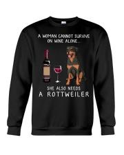 Wine and Rottweiler Crewneck Sweatshirt thumbnail