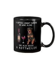 Wine and Rottweiler Mug thumbnail
