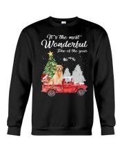 Wonderful Christmas with Truck - Golden Retriever Crewneck Sweatshirt thumbnail