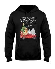 Wonderful Christmas with Truck - Golden Retriever Hooded Sweatshirt thumbnail