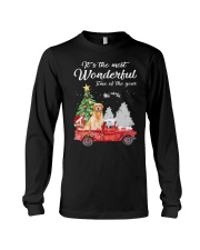 Wonderful Christmas with Truck - Golden Retriever Long Sleeve Tee thumbnail