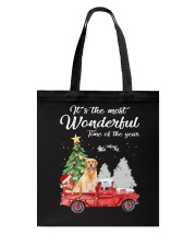 Wonderful Christmas with Truck - Golden Retriever Tote Bag thumbnail