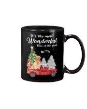 Wonderful Christmas with Truck - Golden Retriever Mug thumbnail