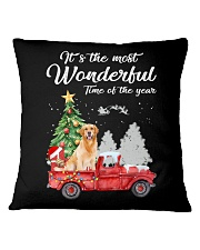 Wonderful Christmas with Truck - Golden Retriever Square Pillowcase thumbnail