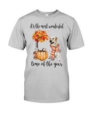 The Most Wonderful Time - Yellow Labrador  Classic T-Shirt front