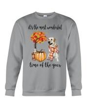 The Most Wonderful Time - Yellow Labrador  Crewneck Sweatshirt thumbnail