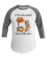 The Most Wonderful Time - Yellow Labrador  Baseball Tee thumbnail
