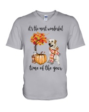 The Most Wonderful Time - Yellow Labrador  V-Neck T-Shirt thumbnail