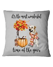 The Most Wonderful Time - Yellow Labrador  Square Pillowcase thumbnail