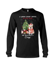 Christmas Wine and Corgi Long Sleeve Tee thumbnail