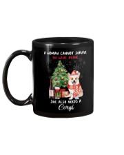 Christmas Wine and Corgi Mug back