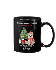 Christmas Wine and Corgi Mug thumbnail