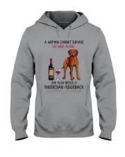 Wine and Rhodesian Ridgeback 2 Hooded Sweatshirt thumbnail