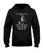 Bernese Mountain Coffee and Naps Hooded Sweatshirt thumbnail