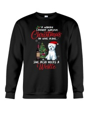 Christmas - Wine and Westie Crewneck Sweatshirt thumbnail