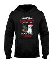 Christmas - Wine and Westie Hooded Sweatshirt thumbnail