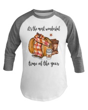 The Most Wonderful Time  Baseball Tee thumbnail